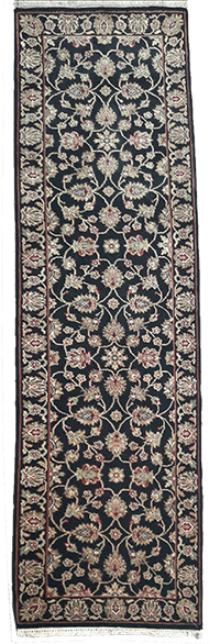 Carpet Runner Persian Black with cream and red . 3m x 0.75m