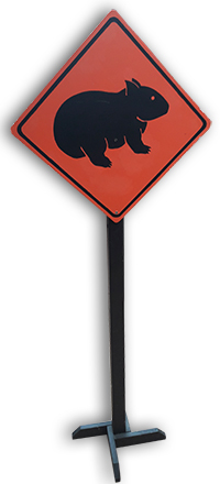 Wombat Crossing Sign 1.5m