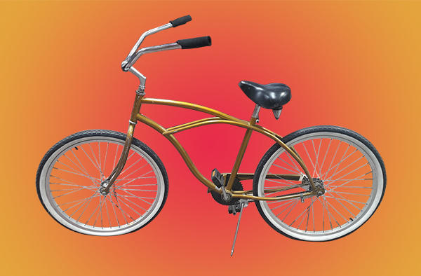 Beach Cruiser Bike/Bicycle Gold