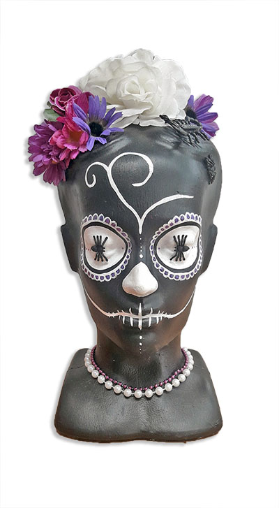 Katalina Day of the Dead Head BLACK