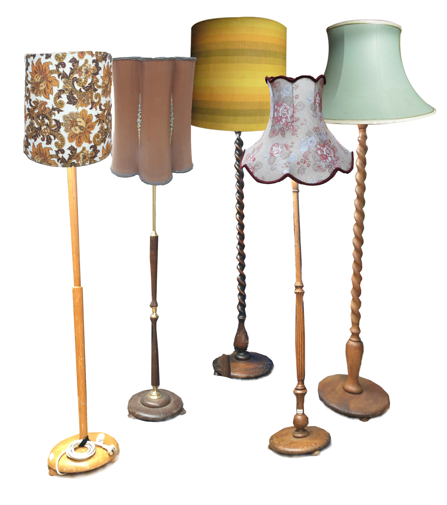 Standing Lamps and Shades assorted.