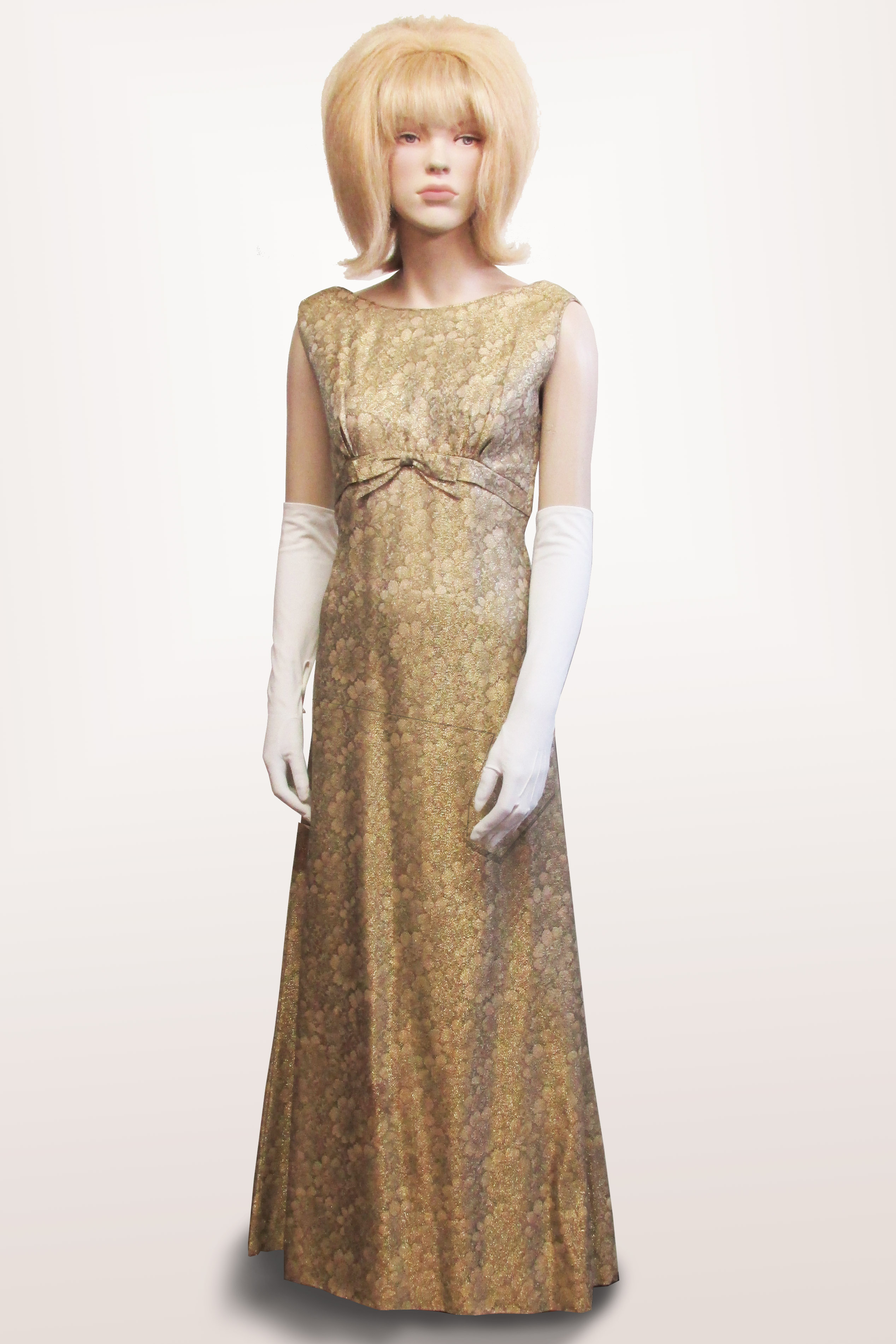Evening Gown Gold Brocade 1960s