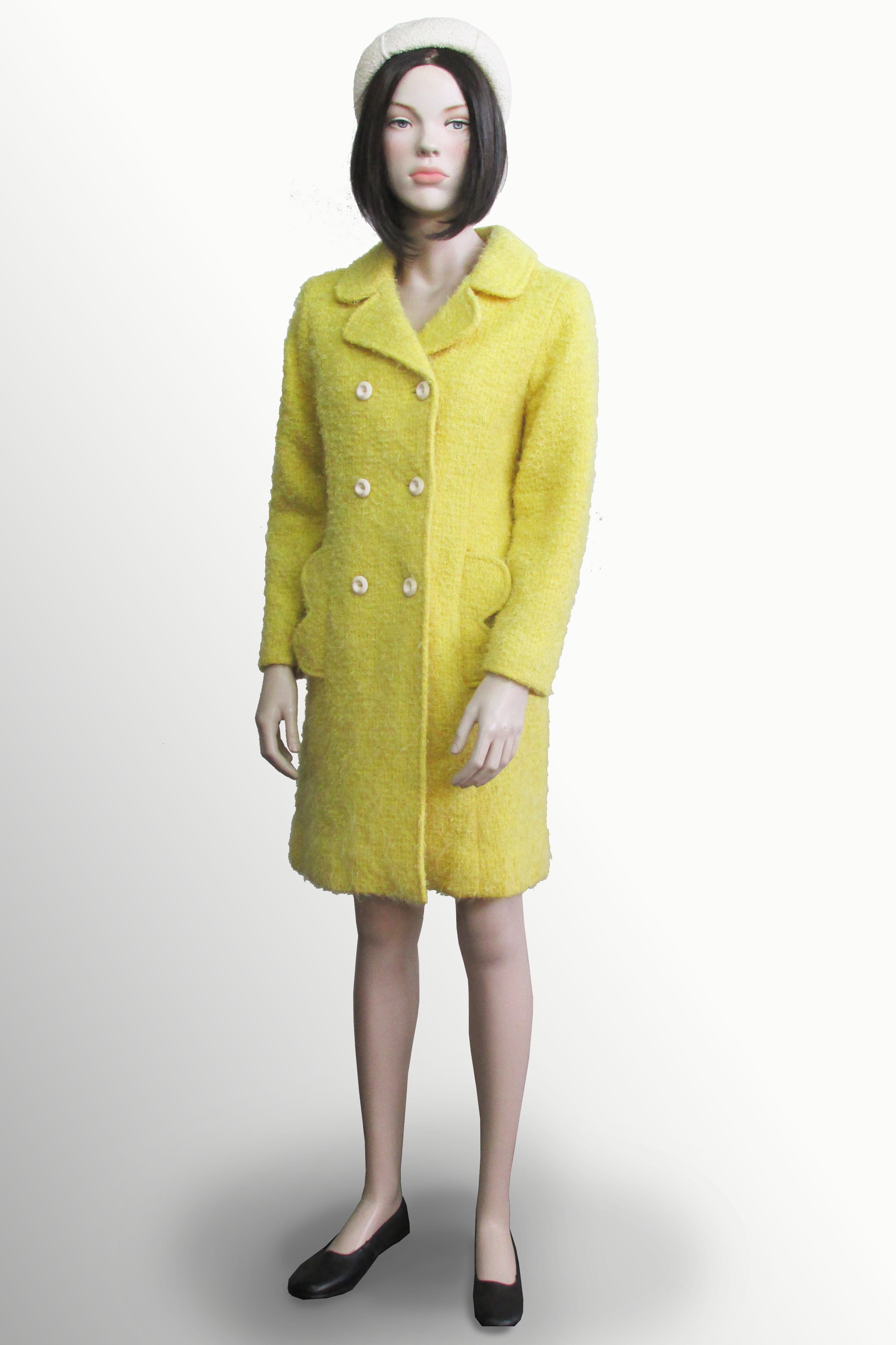 Coat Yellow Boucle 1960s/70s