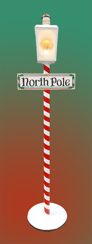North Pole Electric Lamp.   (H 2.3 W 0.3 x D 0.3)
