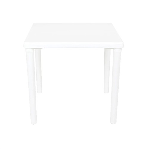 Table White Plastic 750x750x750mm (Removable legs).