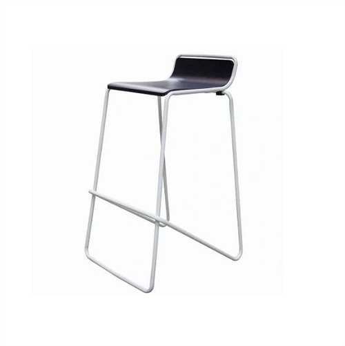 Stool Ideal. White frame with black seat.
