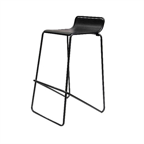 Stool Ideal. Black frame with black seat.