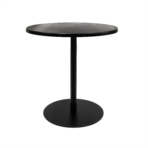 Ideal Cafe Table Black round top on a black base 700D x 750H