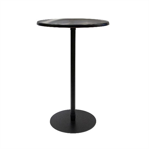 Bar Leaner Ideal Black round top on a black base 700D x 1080H