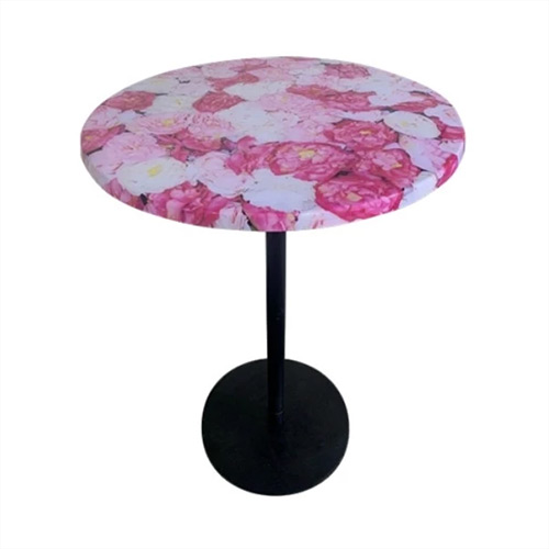 Bar Leaner Ideal `Round top with Rose prints 700D x 1080H