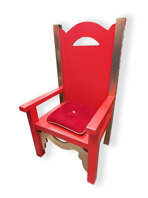 Throne Large Red Gold (130 x 70 x 61cm).