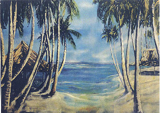Tropical Beach With Hut (6m x 4m)