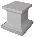 (q) Urn Base White - For Sml Or Lge Plastic Urns (H35cm) [x=2]