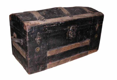 Treasure Chest #04 Black Medium (H46cm x D41cm x W83cm)
