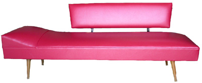 Chaise Lounge #06 Retro Red Vinyl