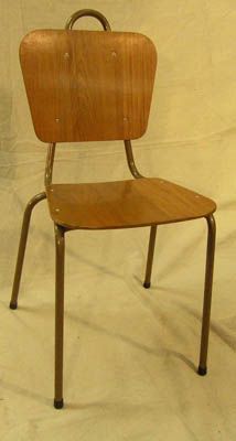 Chair School #001 Wooden (H83cm  W48cm  D50cm) 6 in stock.