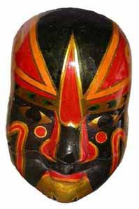 Mask Red (H32cm x W9.5cm )