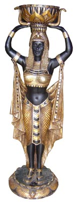 Black/Gold Statue Female Large (H1.9m)