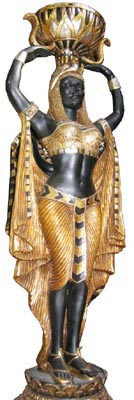Black/Gold Statue Female Small (H1.35m)