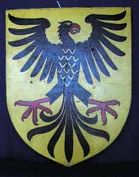 Shield Medieval German Eagle (H66cm W60cm) (x1)