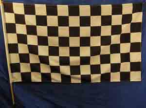Chequered Racing #2 (1.5m x 0.9  stick 1.15 m) [mat= polyester] [x=2]