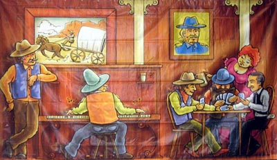 Western Saloon Bar (3.5m x 2m)