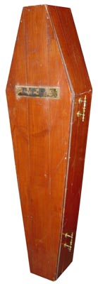 Coffin #11  Wood Basic (1.8m x 0.8m x 0.4m approx)