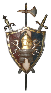 Coat Of Arms Medieval Shield (H165cm W85cm) (x1)