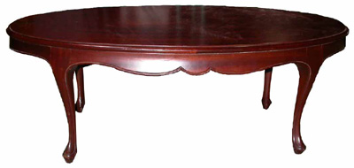 Oval Coffee Table #007 Mahogany Oval (H38cm W107cm D55cm)