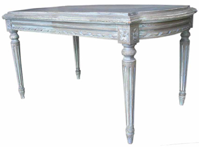 Coffee Table #292 Table White Washed (h48cm D51cm W89cm)