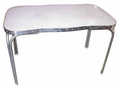 Formica Kitchen Table #003 Mottled Grey (H75cm D66cm W120cm)
