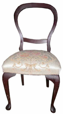 Dining Chair #007 Victorian Balloon Back Cream [3 in stock]