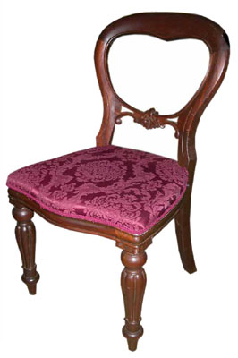 Dining Chair #008 Victorian Balloon Back Maroon [8 in stock]