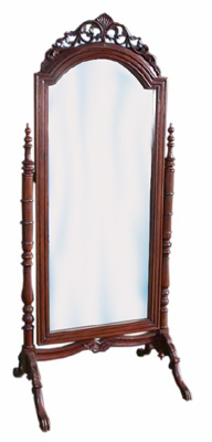 #2 Mirror Cheval  Ornate (Plastic Mirror)
