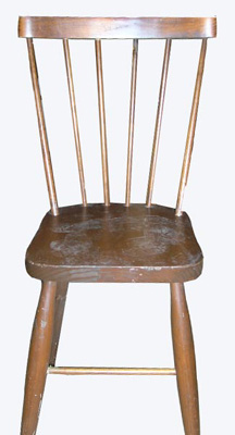 Kitchen Chair #025 Spindle Back Wooden