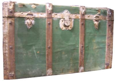 Treasure Chest #03 Green Large (H60cm x D52cm x W85cm)