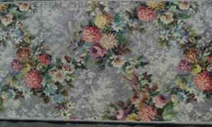 Rug Floral Grey/Pink/Yellow Design (0.52m x 1.48 m)