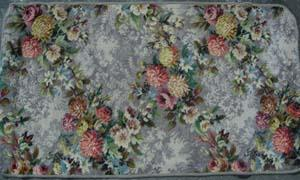 Rug Floral Grey/Pink/Yellow Design (0.52m x 1.48m)
