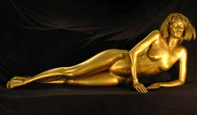 James Bond Girl Gold (H70cm x W170cm x D48cm)