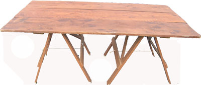 Trestle Table Rustic 1 H85cm W180cm