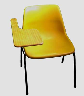 Chair School #004 Lecture Assorted Colours (H75cm  W55cm  D66cm) 6 stock.