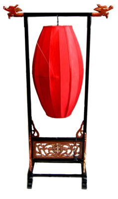 Lantern Chinese Red w Stand ***Not Electric (H150cm x L80cm x W40)