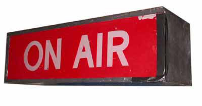 Studio Sign On Air  Red (0.3m x 0.9m x 0.3m)