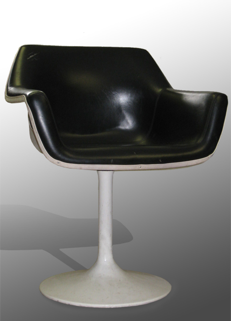 Black Vinyl Swivel Chair