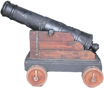 Cannon Wooden (Medium) (0.6m x 1.2m x 0.7m) [p=2] [x=2]