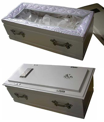 Coffin #09 Pet / Infant, White (0.67m x 0.3m x 0.23m)