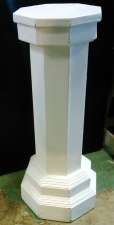 White Plinth - Plinth (P) Wooden Octagonal  (1m high) 2 available