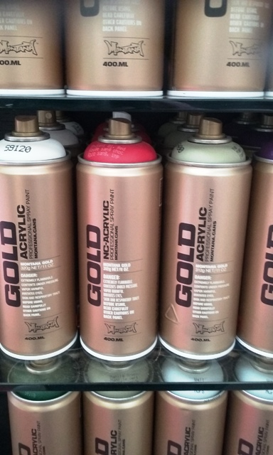 Montana Gold Spray Paint  Assorted colours