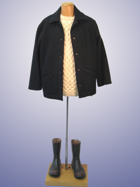 Pea Jacket With Jumper
