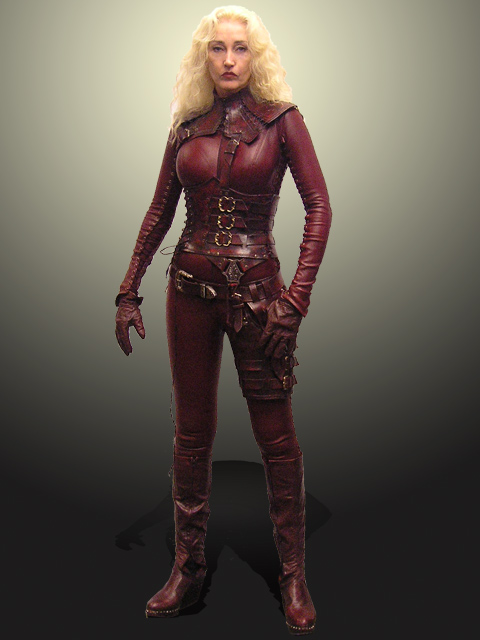 Red Leather Fighting Outfit